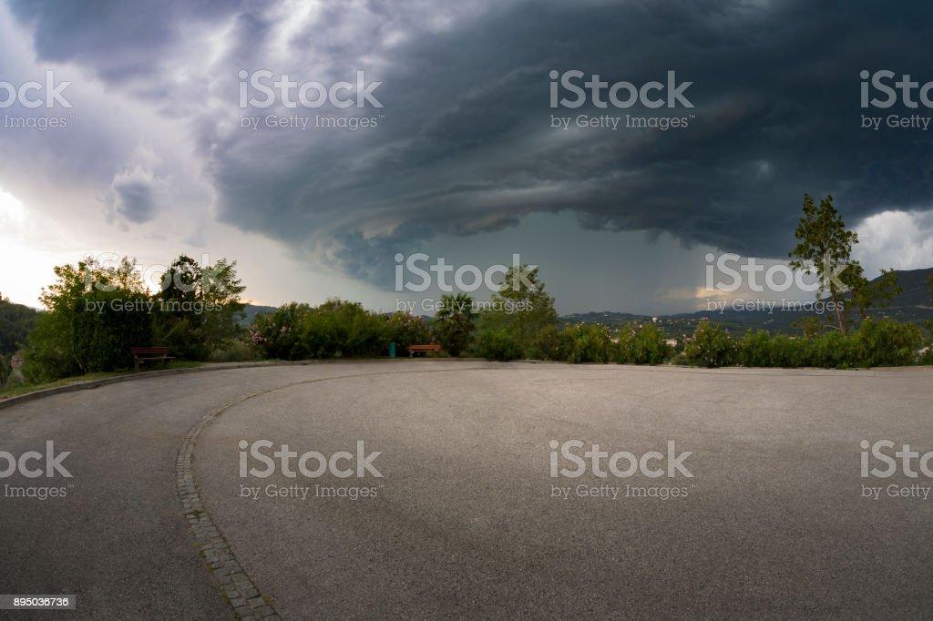 Hailstorm stock photo