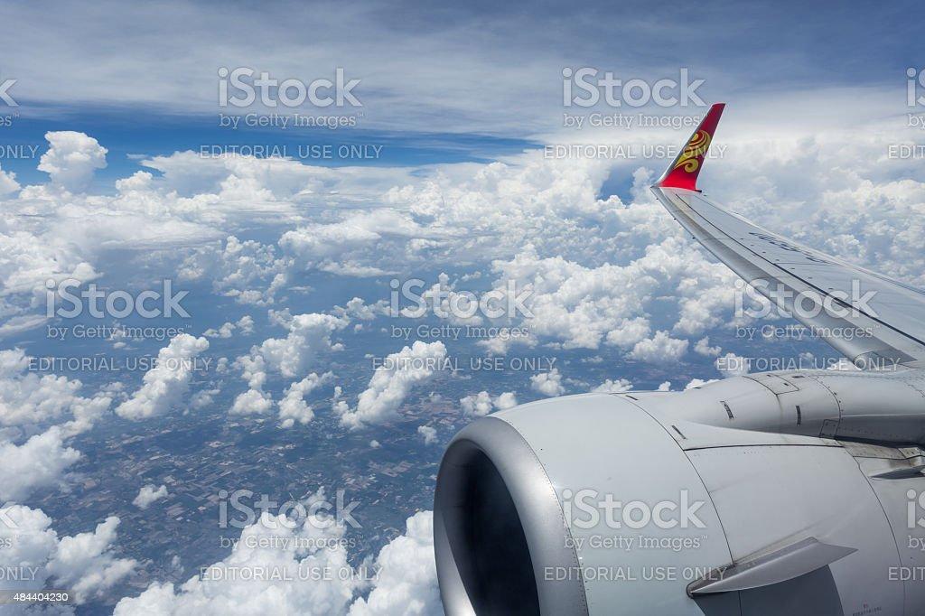 Hainan Airlines logo winglets stock photo