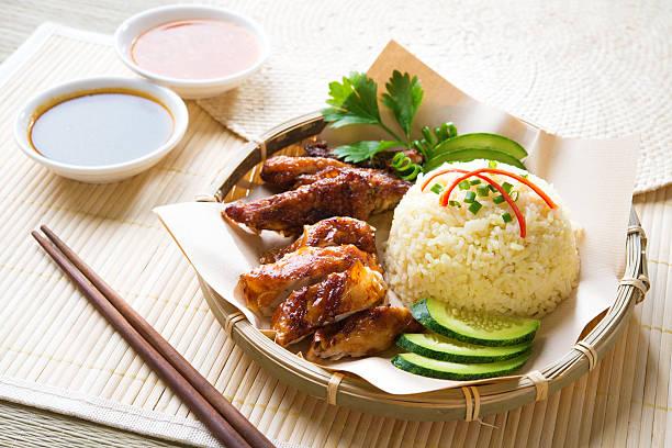 Hainan chicken rice stock photo