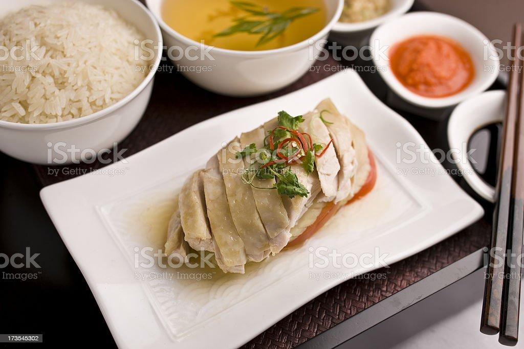 Hainanese chicken stock photo