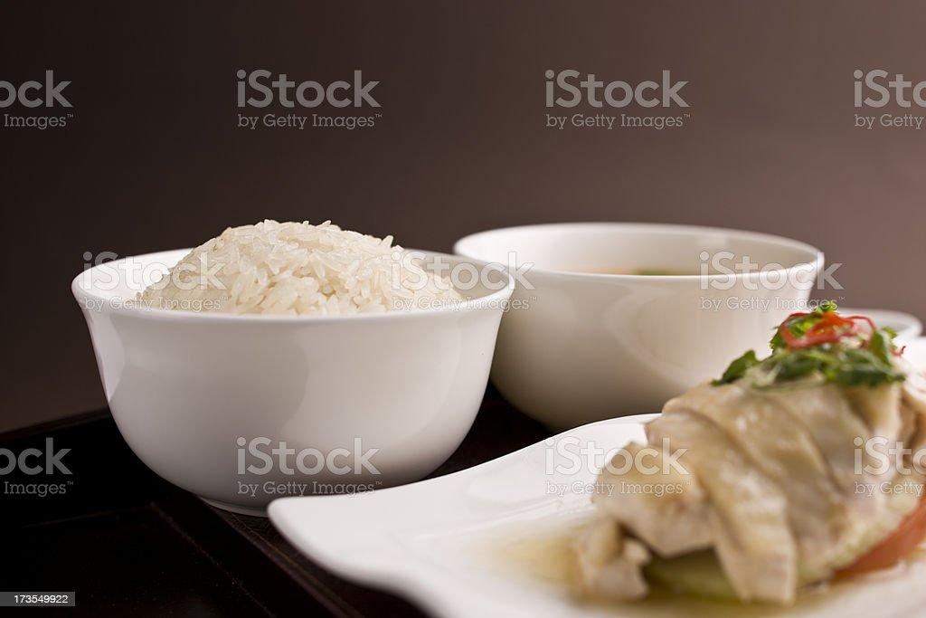 Hainanese chicken royalty-free stock photo