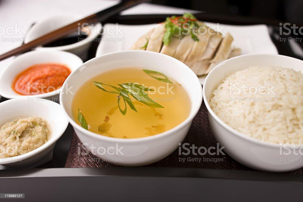 Hainanese chicken stock photo