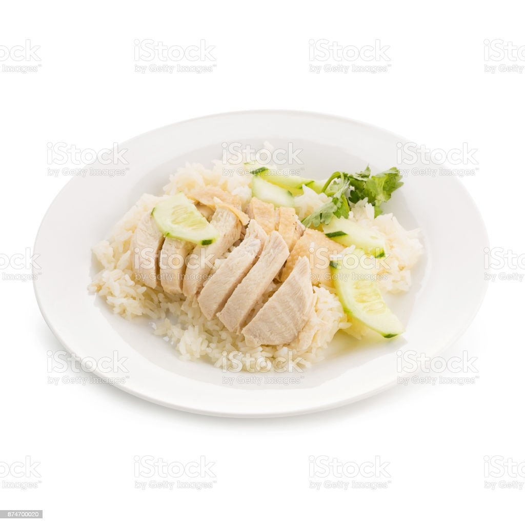Hainanese Chicken Rice Thai Gourmet Steamed Chicken With