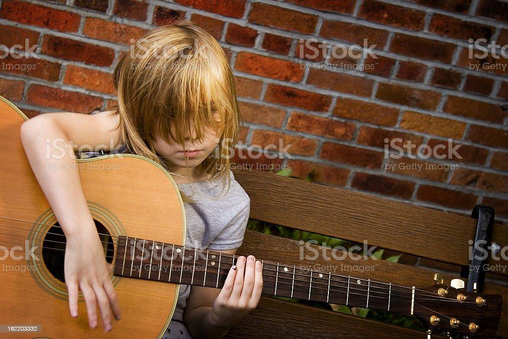Hair acoustics stock photo