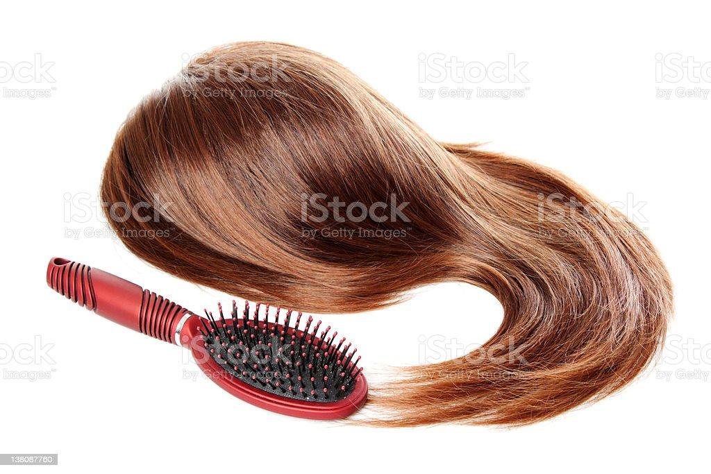 Hair and hairbrush | Isolated stock photo