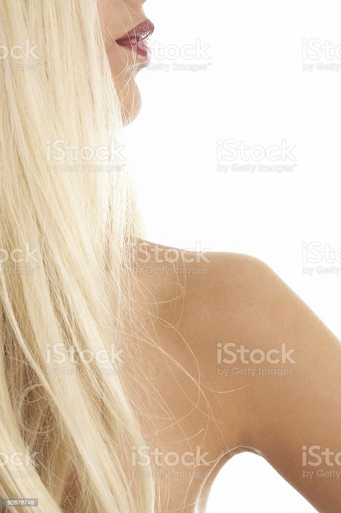 hair and lips royalty-free stock photo