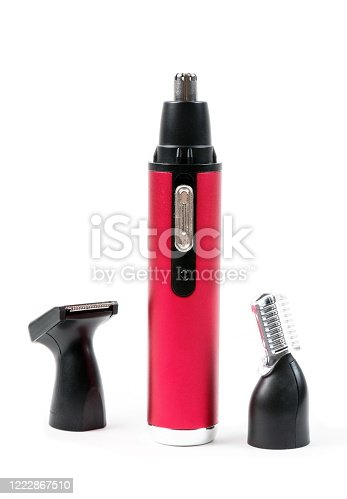 1041901666 istock photo Hair and nose trimmer on the white 1222867510