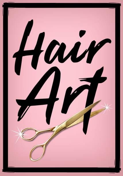 haar-kunst-poster - haar zitate stock-fotos und bilder