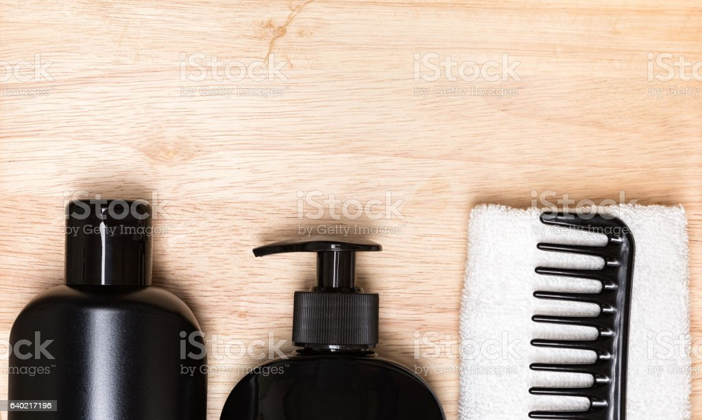 Hair beauty products background stock photo