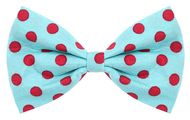 Hair bow tie turquoise with red dots This is a lovely hair bow or bow tie, turquoise blue with red spots. bow tie stock pictures, royalty-free photos & images