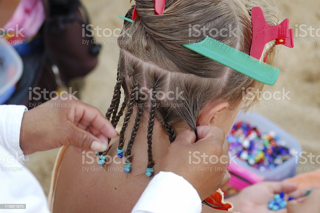 Hair Braiding stock photo