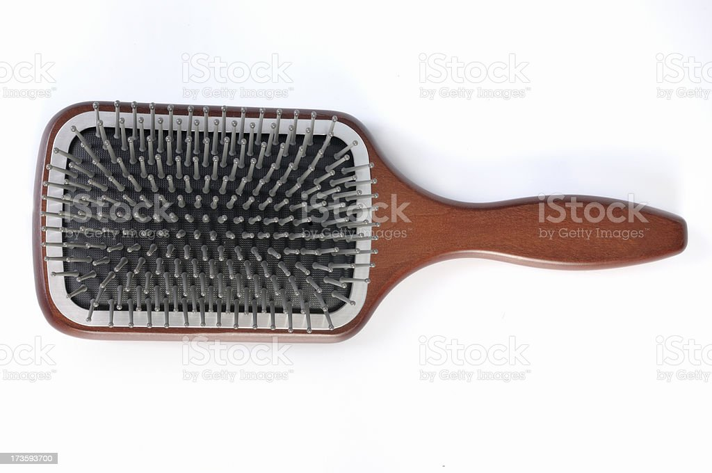 Hair brush royalty-free stock photo