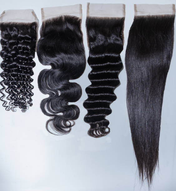 Hair bundles and weaves Human hair and bundles weaves wigs of all sizes straight hair stock pictures, royalty-free photos & images