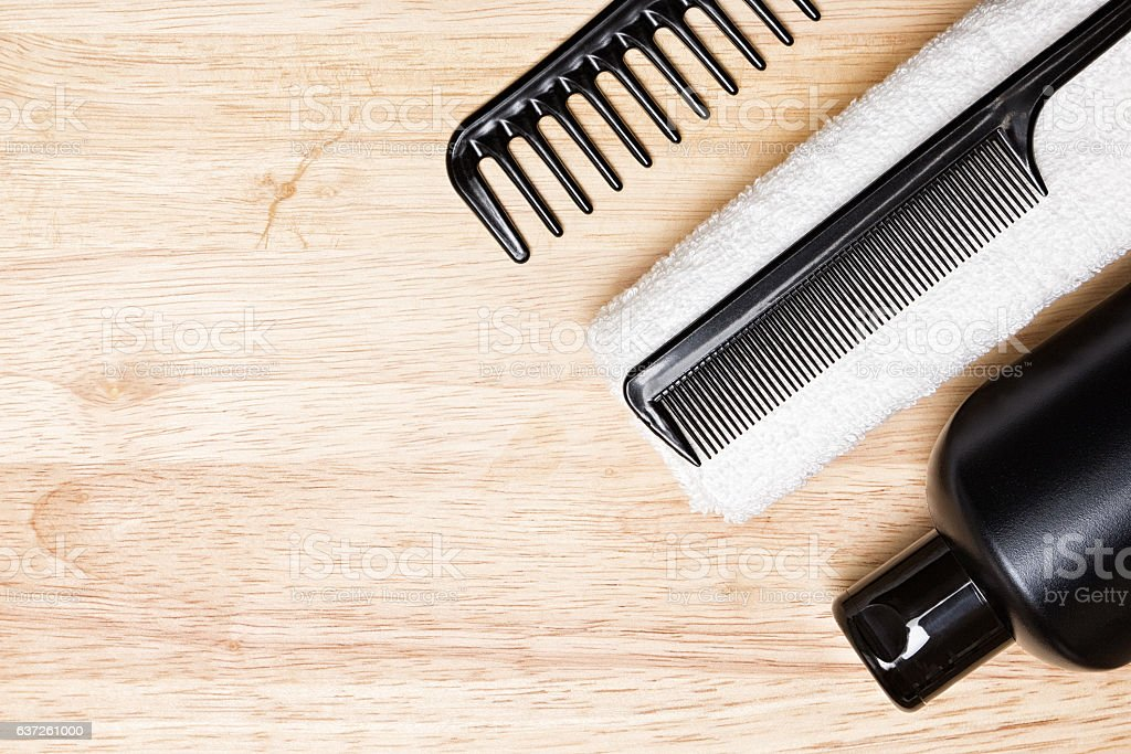 Hair care and styling background stock photo