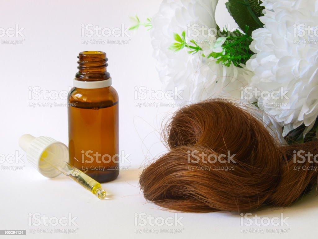 Hair care with Argan Oil. stock photo