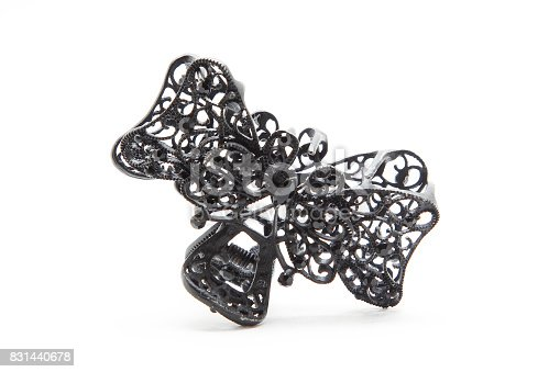 Hair clip crab on white background