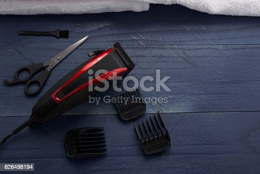 626488516istockphoto Hair Clipper and scissor the hairdressing salon 626498194