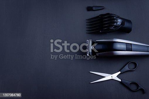 1147090180 istock photo hair clipper black background 1207064760