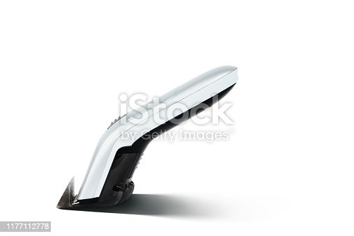 626808632istockphoto Hair clipper isolated on a white background. The concept of cutting, improving the appearance. 1177112778