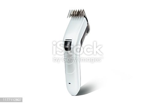 626808632istockphoto Hair clipper isolated on a white background. The concept of cutting, improving the appearance. 1177112807