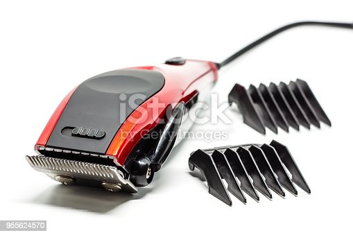 1041901666 istock photo Hair clipper on white background for beauty salon equipment concept 955624570