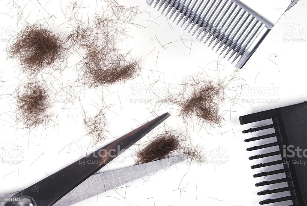 Hair clippings royalty-free stock photo