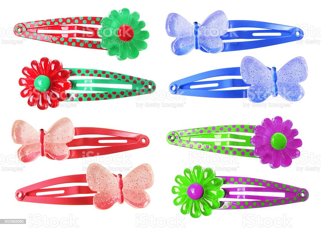 Hair Clips stock photo