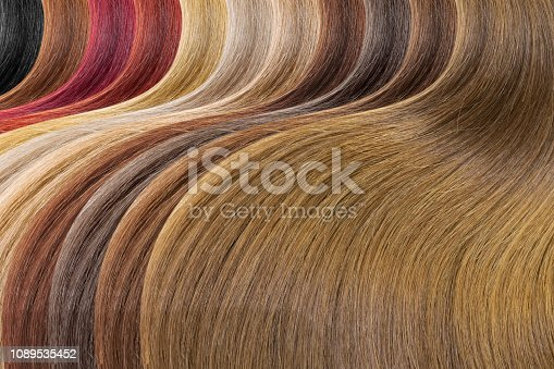 Hair colors palette as background