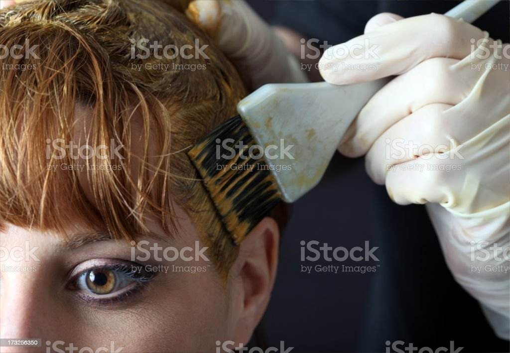 Hair Colour Application royalty-free stock photo