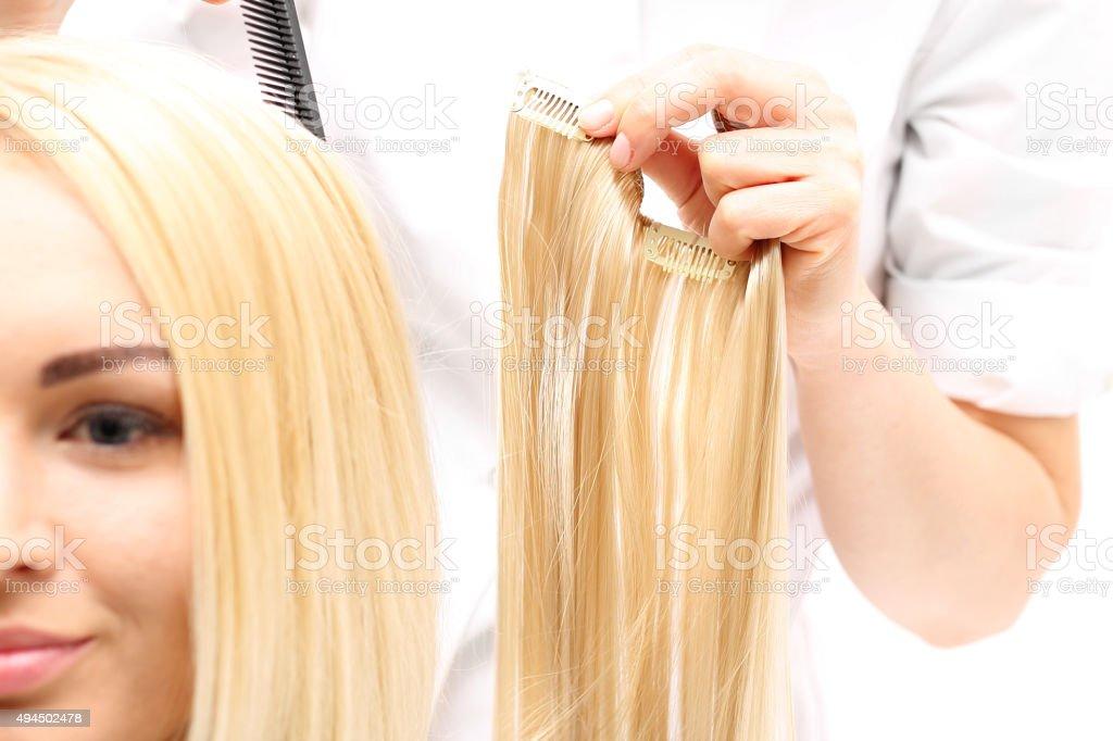 Compactação de cabelo - foto de acervo