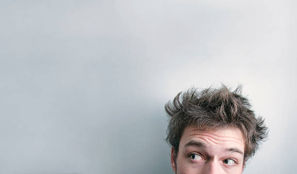 hair cut ? - messy hair stock photos and pictures