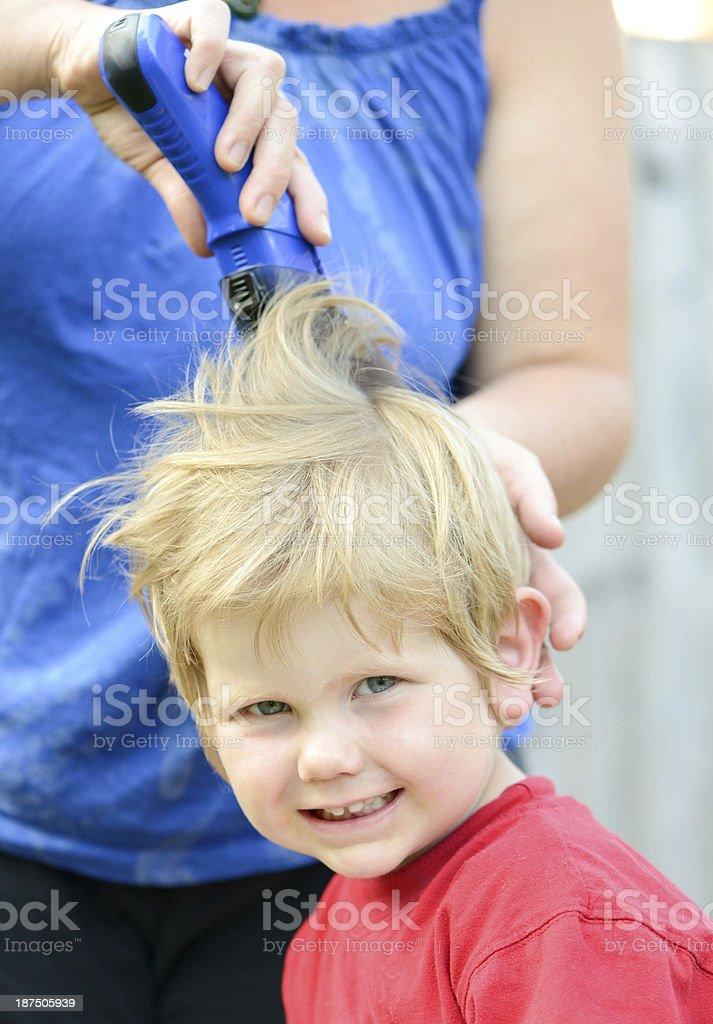 hair cut stock photo