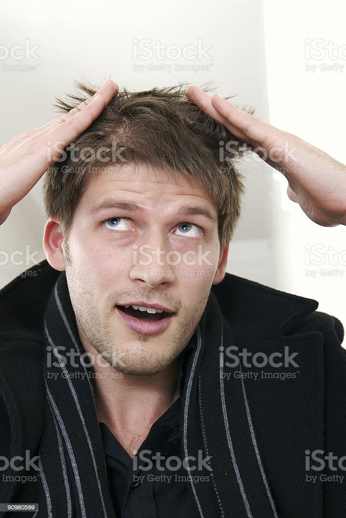 Hair cut royalty-free stock photo