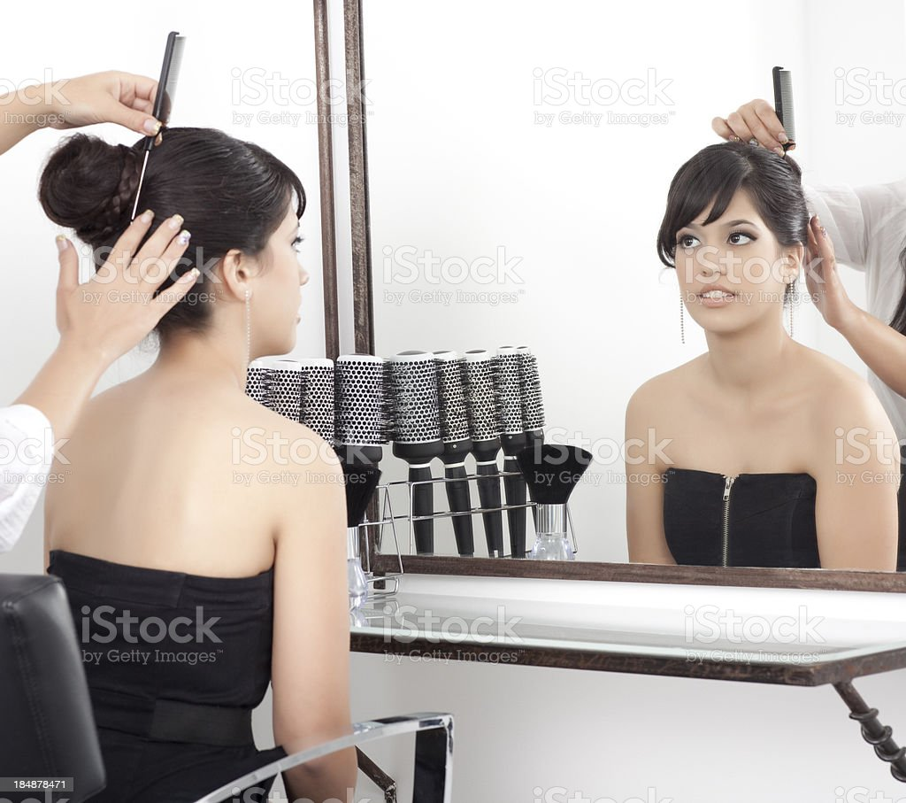 Hair Design at beauty salon. royalty-free stock photo