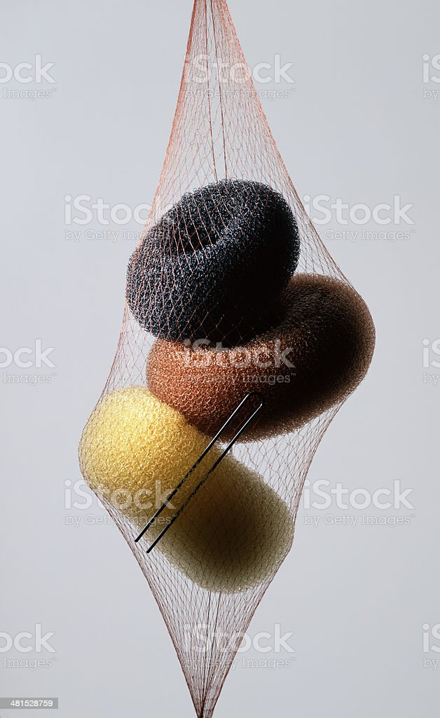 Hair Doughnuts royalty-free stock photo
