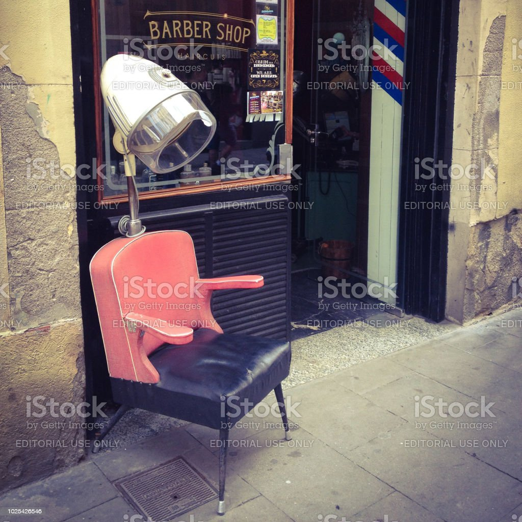Admirable Hair Dryer And Chair At Barber Shop Stock Photo Download Ocoug Best Dining Table And Chair Ideas Images Ocougorg