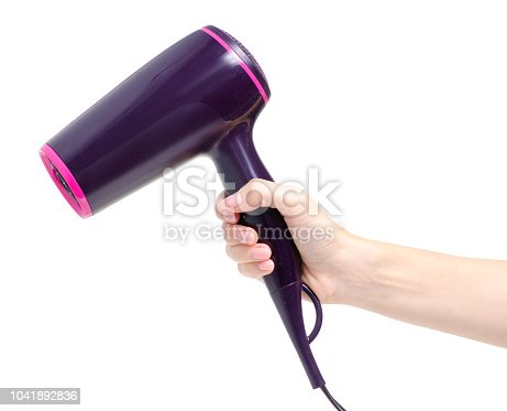 istock Hair dryer in hand 1041892836