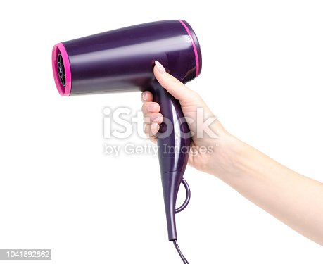 istock Hair dryer in hand 1041892862