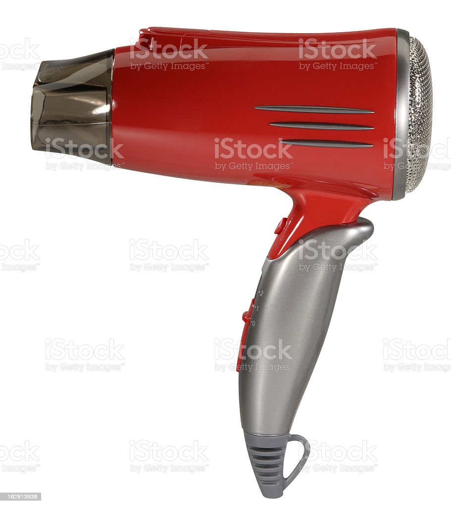 Hair dryer with clipping path royalty-free stock photo