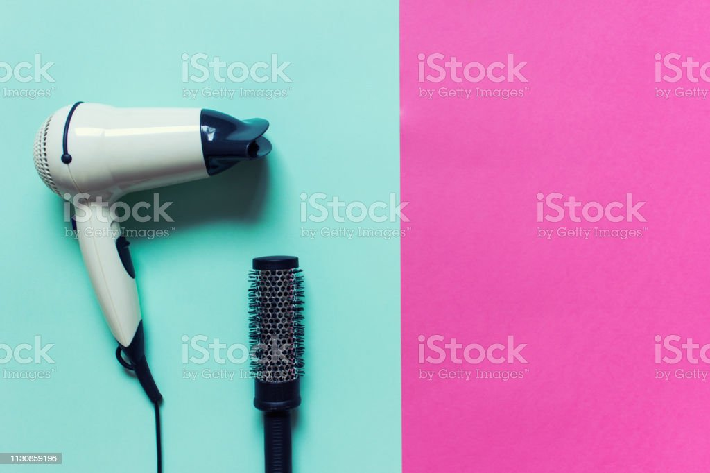 Hair drying accessories stock photo