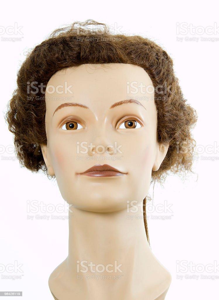 Manichino per capelli foto stock royalty-free