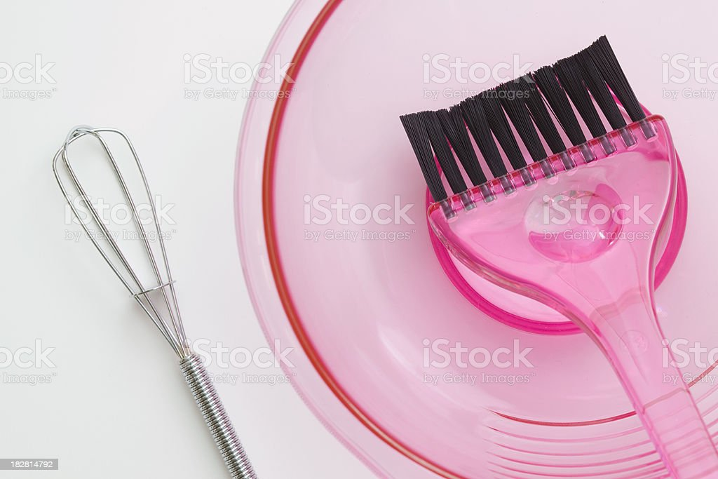 Hair Dye Application Tools royalty-free stock photo