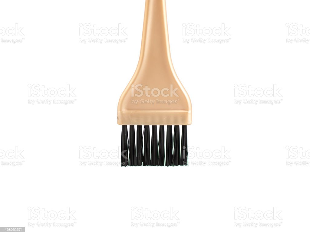 Hair dye brush stock photo