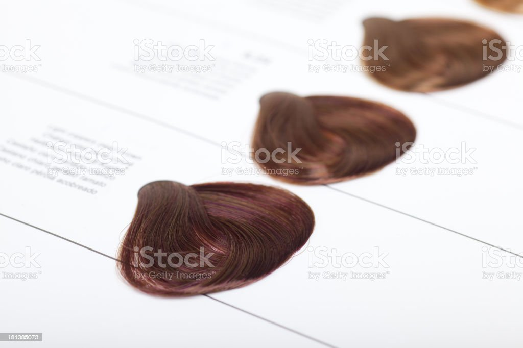 Hair Dye Color Swatches Stock Photo - Download Image Now ...
