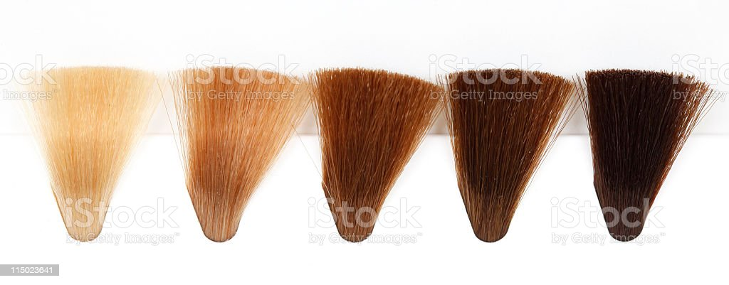 Hair Dye Colour Swatch - Gold Tones royalty-free stock photo