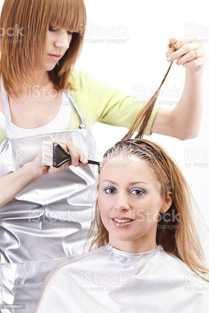 Hair dyeing royalty-free stock photo