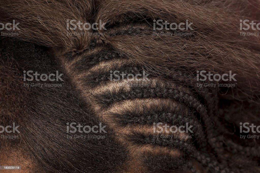 Alongamento de cabelo. - foto de acervo