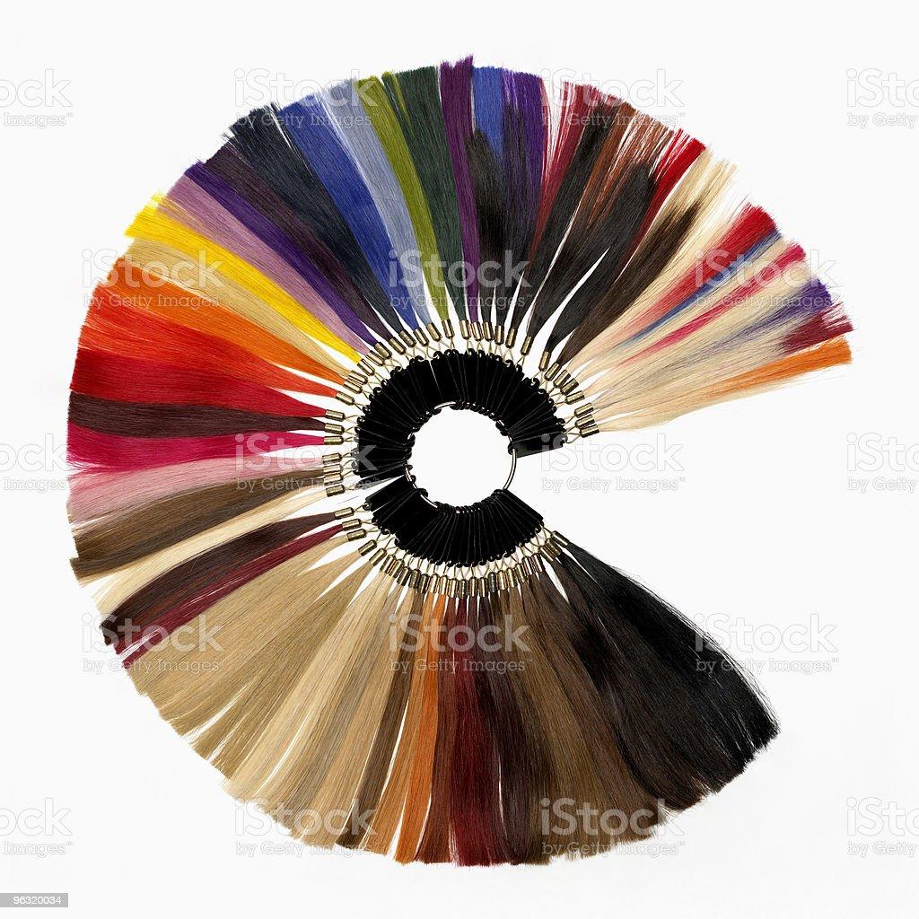 Amostras de cor de prolongamento de cabelo - foto de acervo