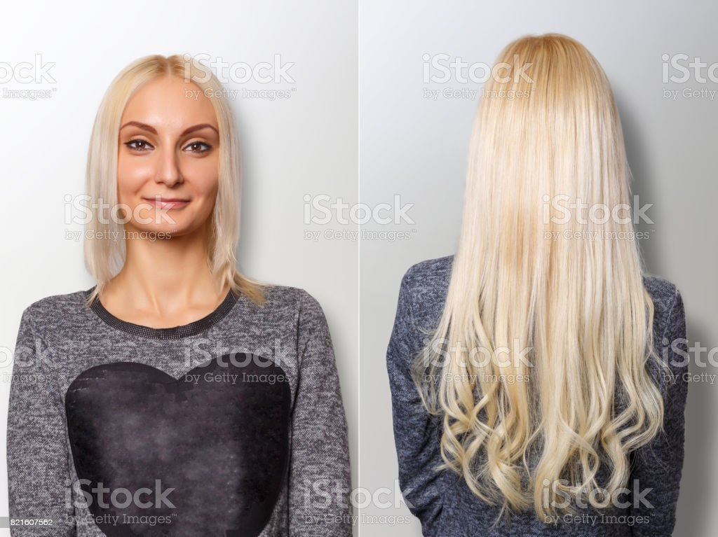Hair Extensions Procedure Hair Before And After Stock Photo More