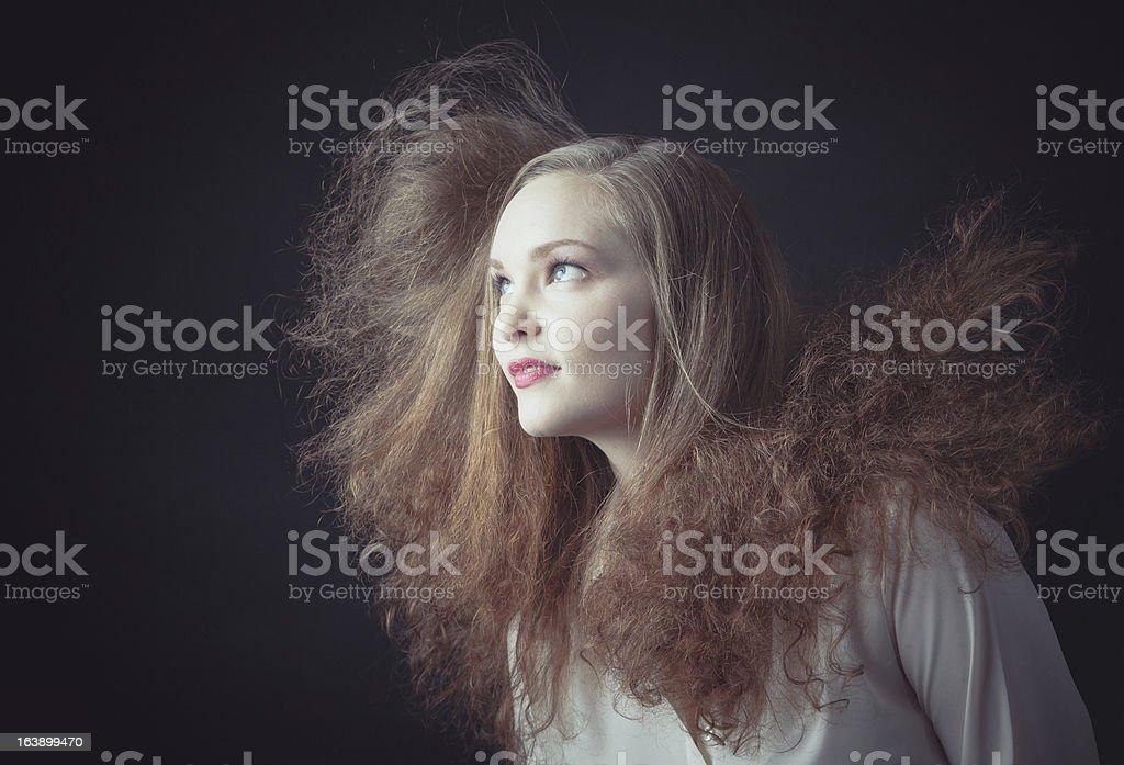 Hair flying royalty-free stock photo